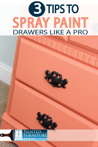 Spray paint like a pro with these 3 tips what apply to drawers, and other furniture projects!