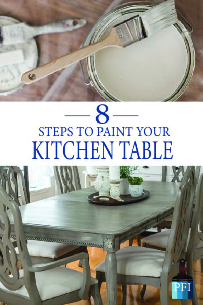Paint your kitchen table and make it last! Learn these 8 easy steps to a new table!
