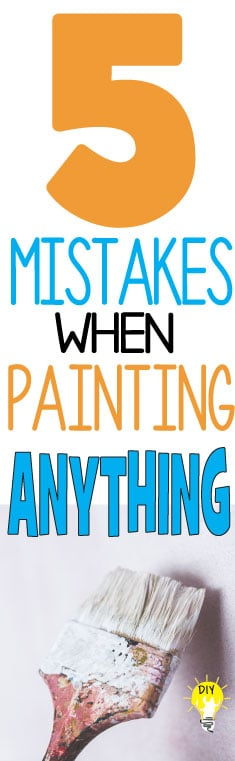 painting mistakes