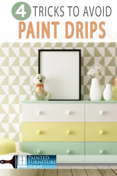 Avoid paint drips with these 4 tricks on your next DIY painting project!