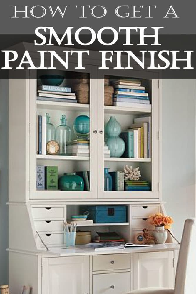 Take a minute to learn how to get a beautifully smooth finish to your DIY paint home improvement project!
