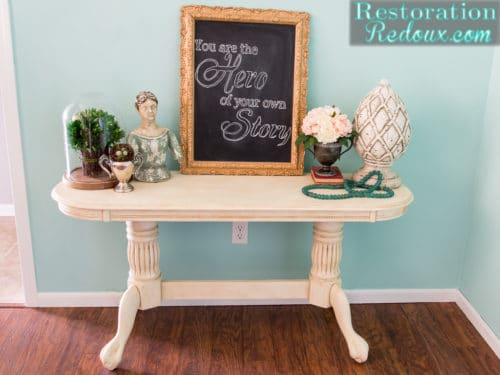 claw footed table