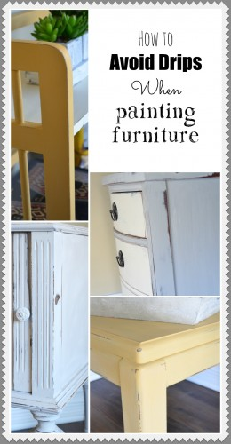 Avoid drips when painting furniture