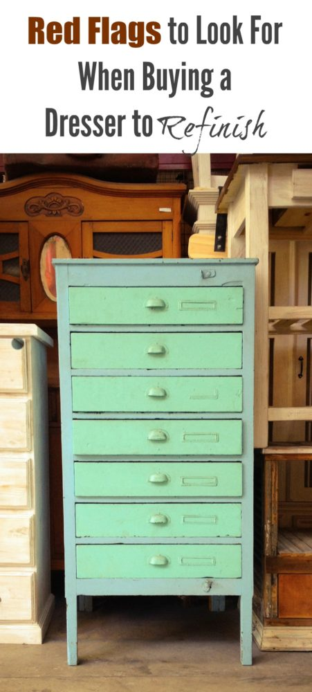 buying a dresser to refinish