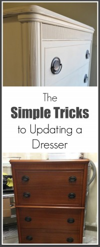 simple tricks to updating a dresser