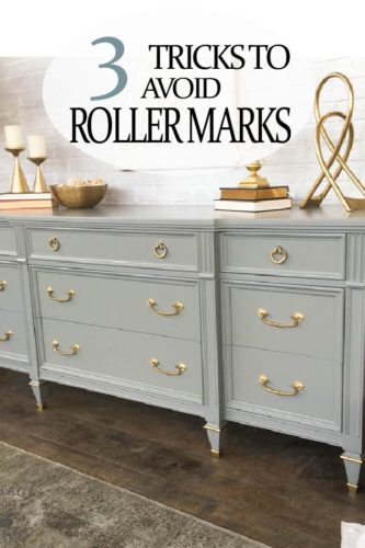 DIY painted furniture projects can so bad, if you have roller marks.  Learn how to avoid them and get a professional finish!