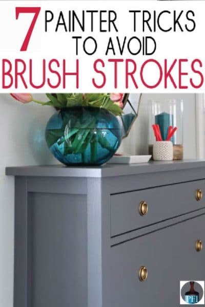 Painting Furniture tips to avoid brush strokes on your diy project!