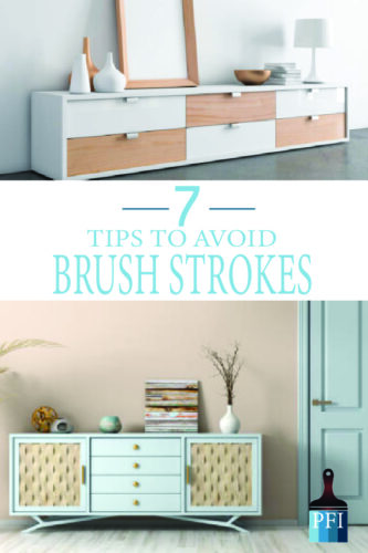 Avoid brush strokes while painting furniture with these helpful tips!