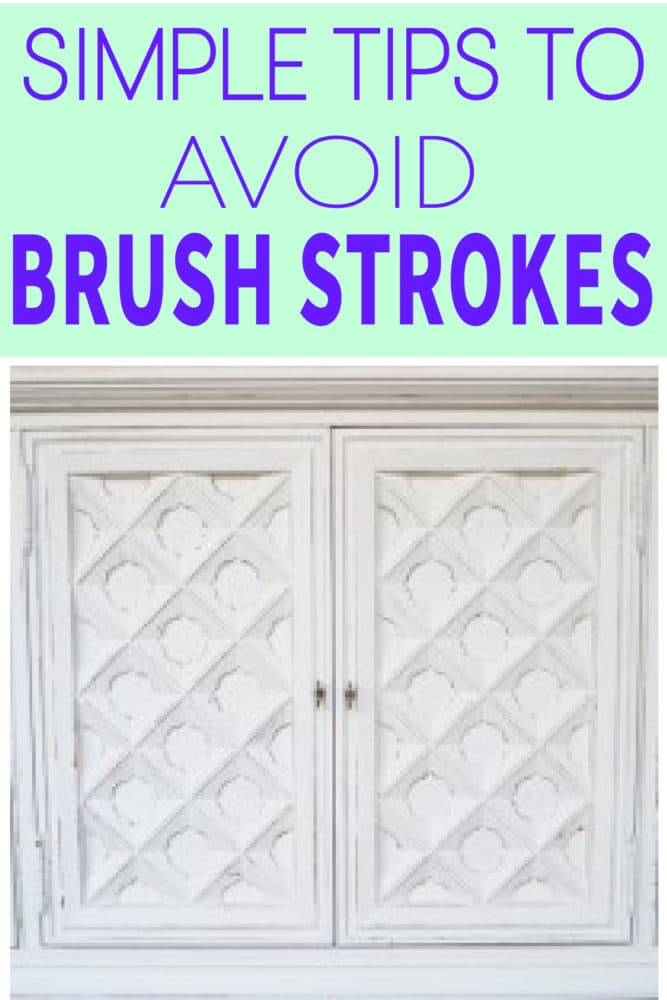 Learn these simple tips to avoid brush strokes on your next DIY projects!