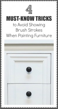 Avoiding brush strokes when painting furniture