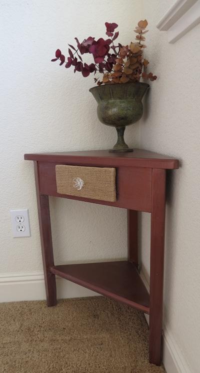 corner shelf makeover painted furniture ideas