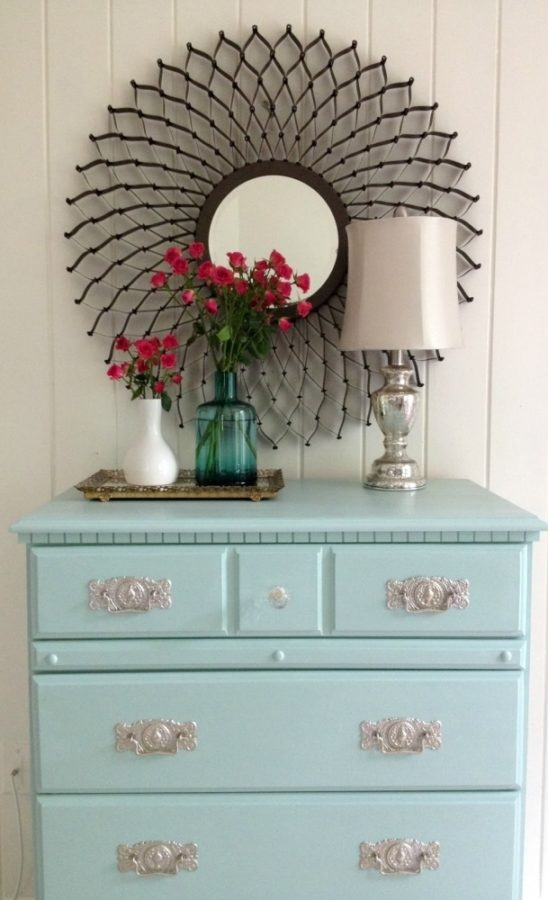 turquoise painted furniture ideas. Painted Laminate Table Turquoise Furniture Ideas