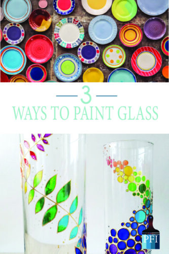 "Learn how to paint on glass with these great tutorials on how to paint glass"" class"