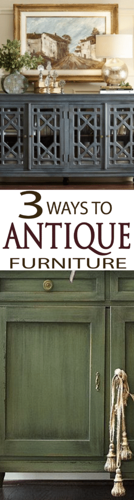 Learn 3 simple ways to antique your furniture with a beautiful finish.