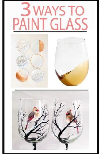 Hand paint glass DIY with these great tips and ideas, featuring 3 different techniques.