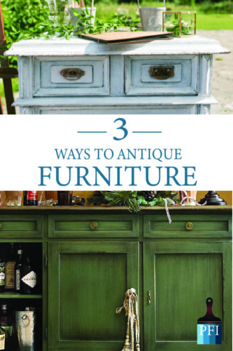 Learn how to achieve beautiful antiqued furniture, three different ways! DIY your own furniture to your specific style!