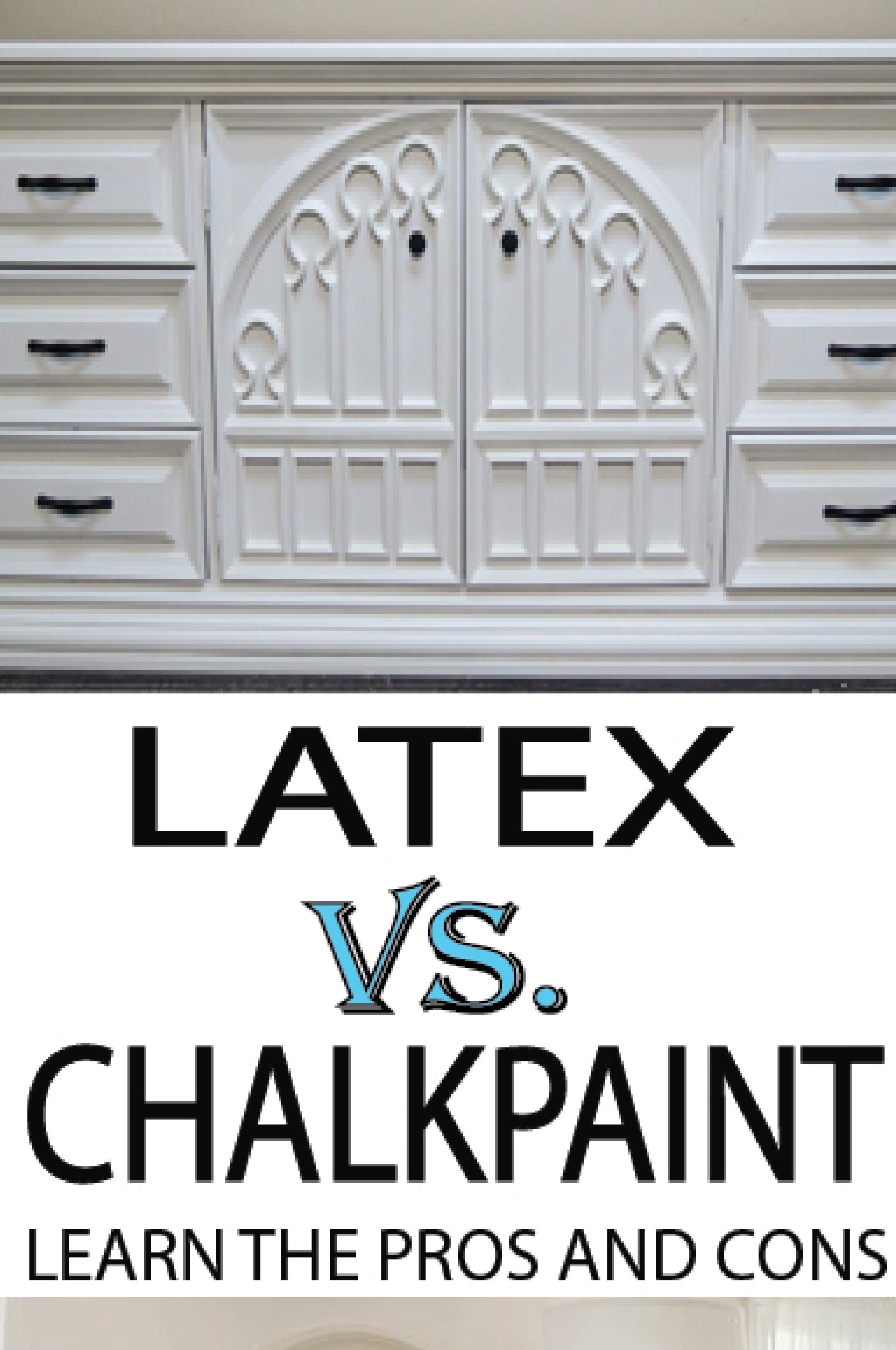 Chalk Paint Vs Latex Paint On Furniture Painted