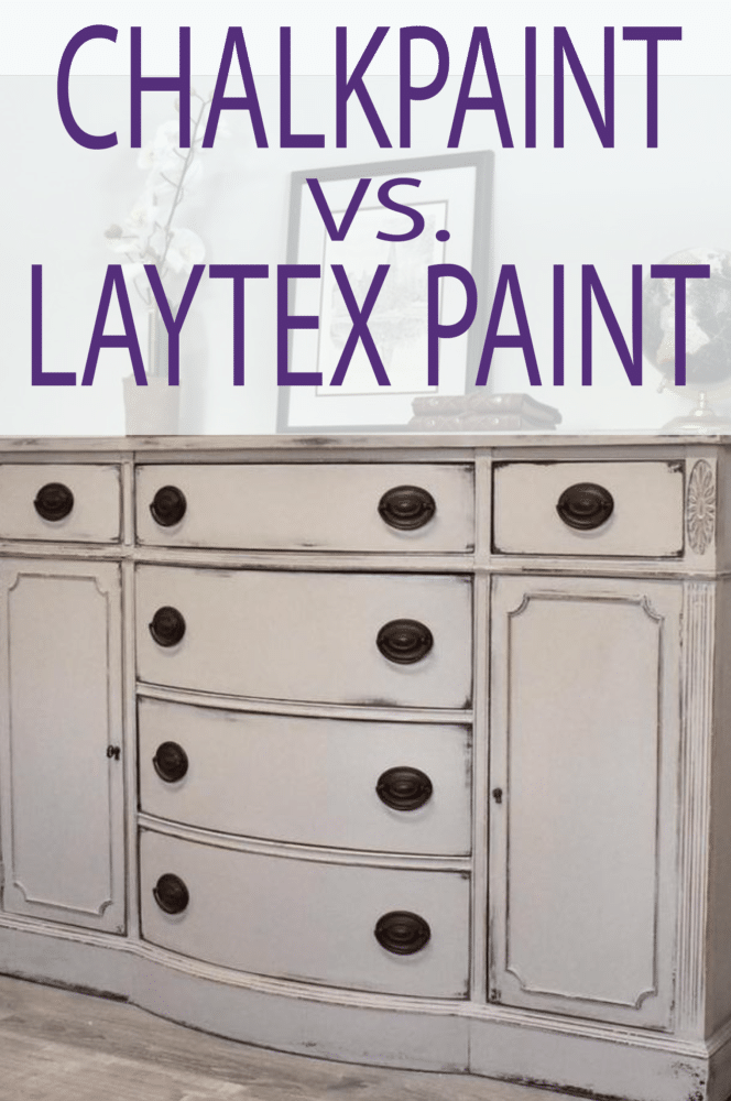 What is the difference between laytex and chalk paint, and in what situations is one better than the other? Learn this and more!