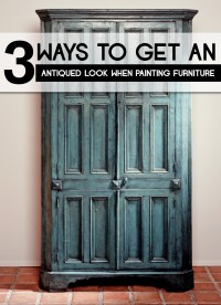 ways to get an antiqued look on painted furniture