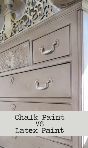 Chalk paint vs latex paint on furniture painted for Best latex paint for kitchen cabinets