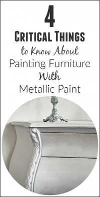 painting furniture with metallic paint