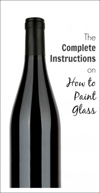 instructions on how to paint glass