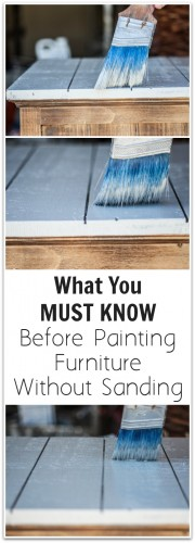 what you must know before painting furniture without sanding