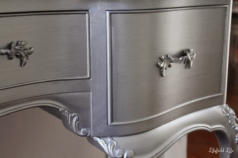 What to know before using metallic paint painted How to spray paint wood furniture