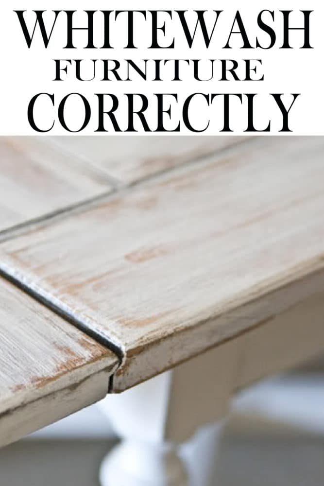 Whitewashing gives a piece a farmhouse style or cottage style feel. Like any DIY project if you are going to put the time into your project, you want to make it do correctly, learn how to do it correctly here!
