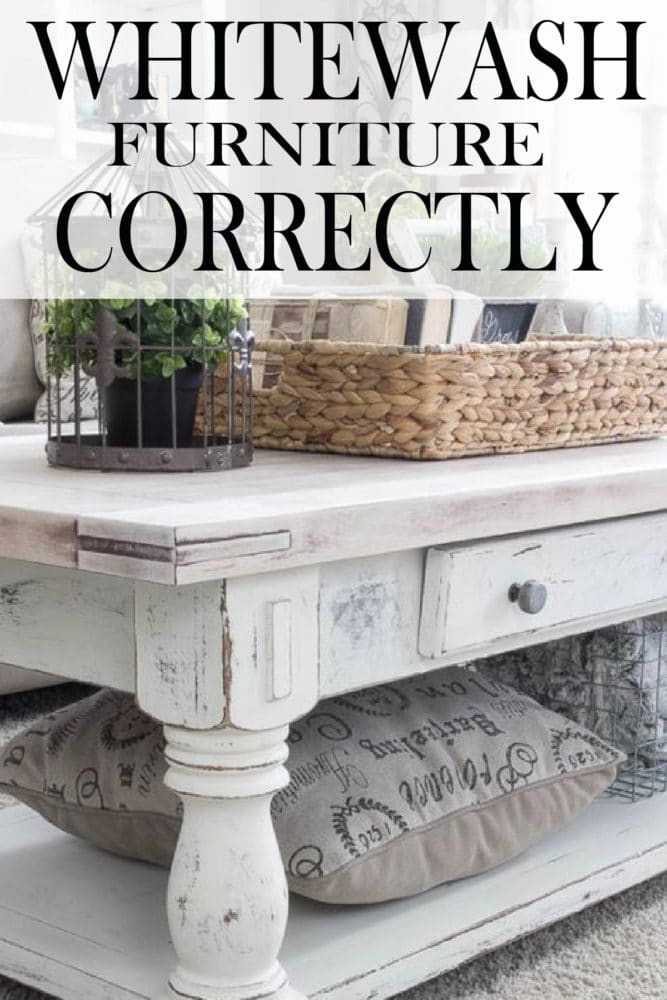 Whitewashing Gives A Piece A Farmhouse Style Or Cottage Style Feel. Like  Any DIY Project