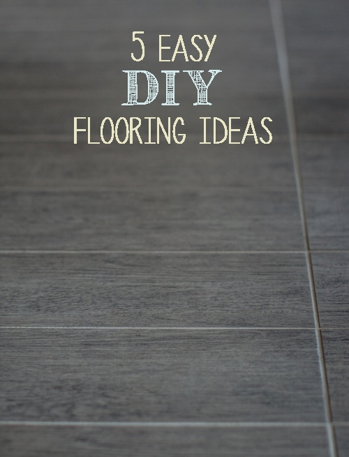 5 easy diy flooring ideas painted furniture ideas for Diy wood flooring ideas