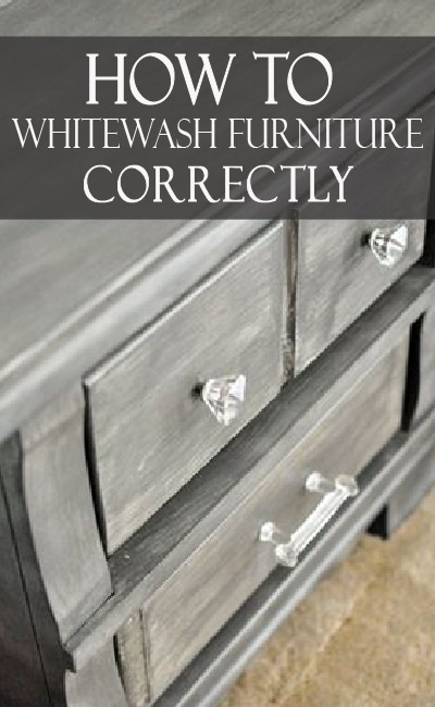 Learn how to whitewash furniture correctly, and with multiple color options!