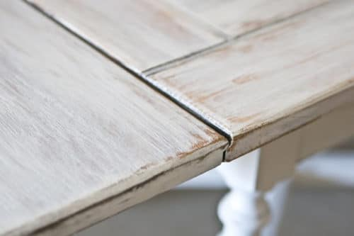 DIY Painted Furniture whitewash table