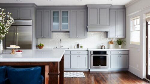 painted kitchen cabinets gray