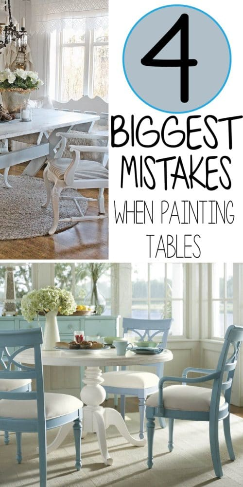 The 5 mistakes people make while painting a kitchen table for Painted kitchen chairs