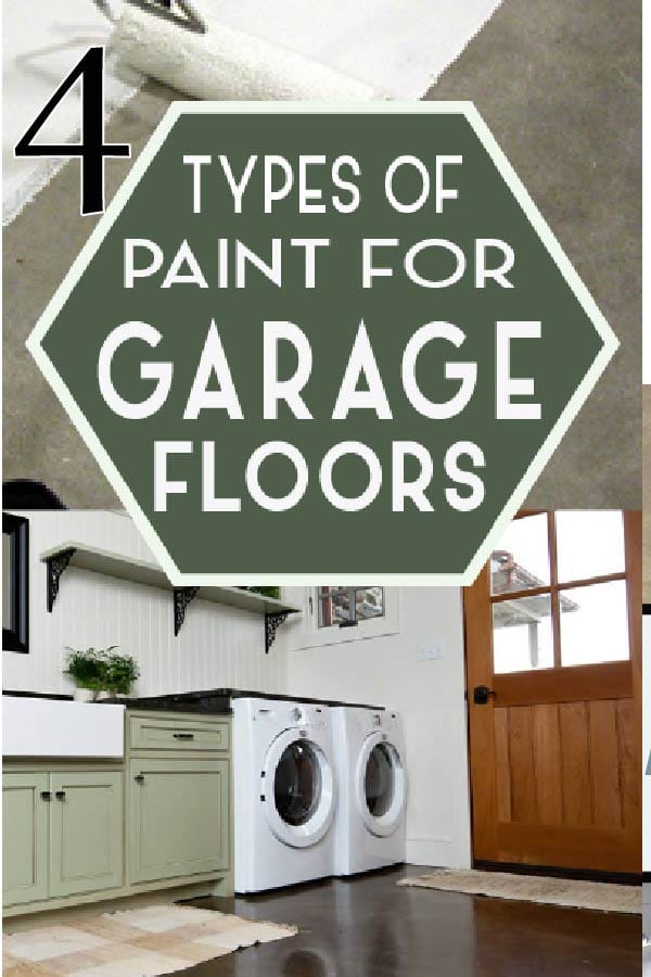 Garage floor paint will make a world of difference to your garage.  Learn the 4 types of paint you can use!