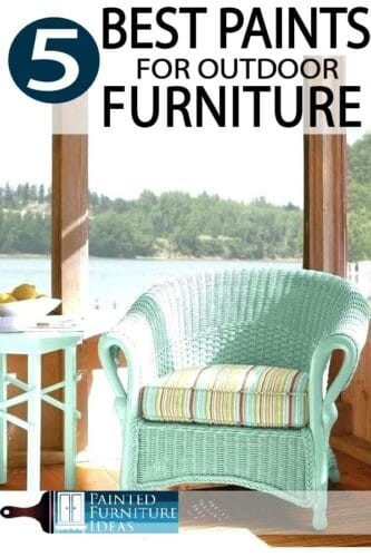 A new coat of paint gives everything a new look, learn how to paint outdoor furniture correctly!