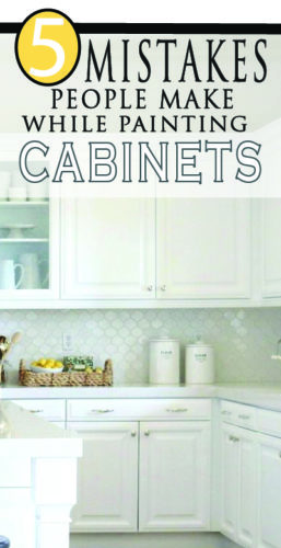 Painting kitchen cabinets soon? Learn how to do it right by avoiding these common mistakes! Professional tips for a beautiful DIY project for your home improvement!