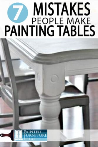 Learn how to paint your kitchen table correctly. Avoid these major mistakes while remodeling your kitchen!
