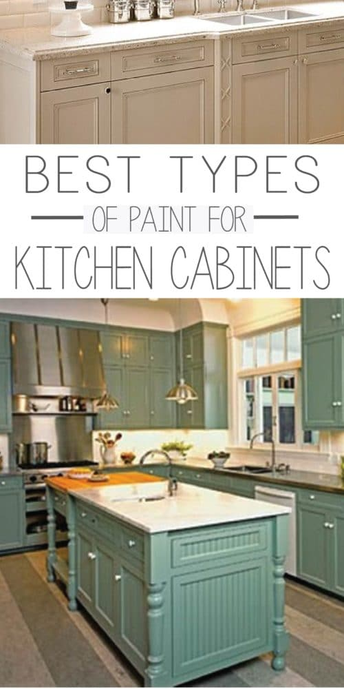 Types of paint best for painting kitchen cabinets for Paint for kitchen cabinets ideas
