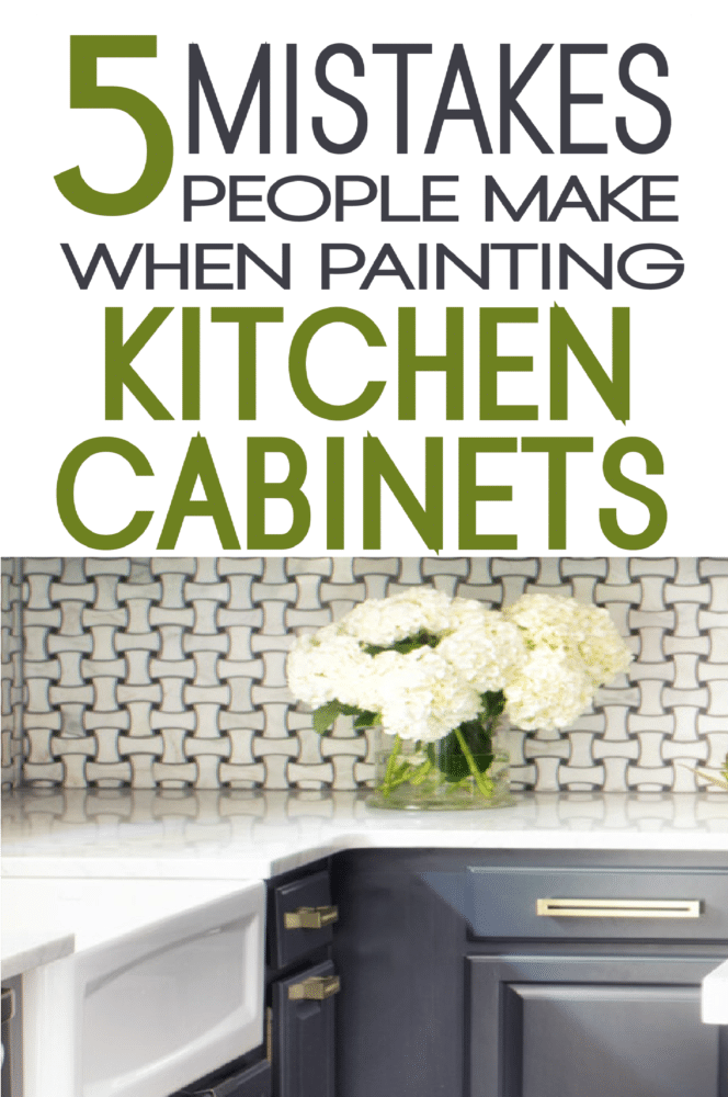 Superieur Learn From Others And Avoid These Common Mistakes Made When Painting  Kitchen Cabinets.