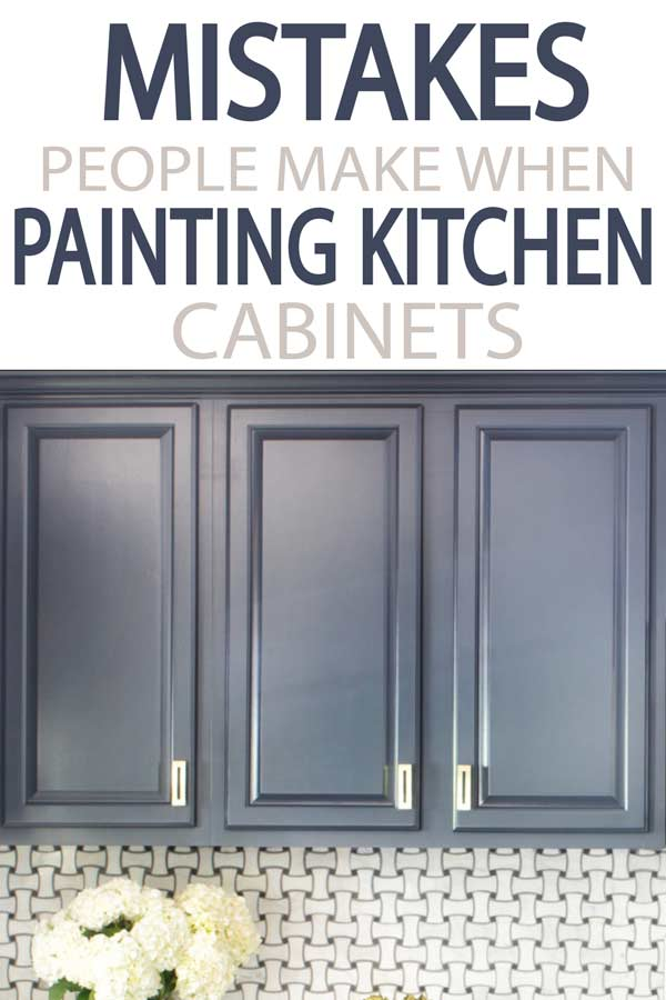 Learn from others, how to paint your kitchen cabinets correctly. Avoid these major mistakes while remodeling your kitchen and bath!