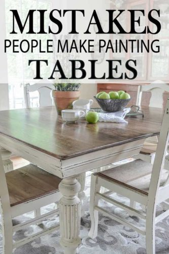 DIY Painted Furniture in your kitchen.  Learn how to paint kitchen tables like the pros and avoid DIY mistakes.