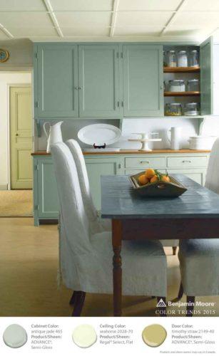 benjamin moore painted kitchen