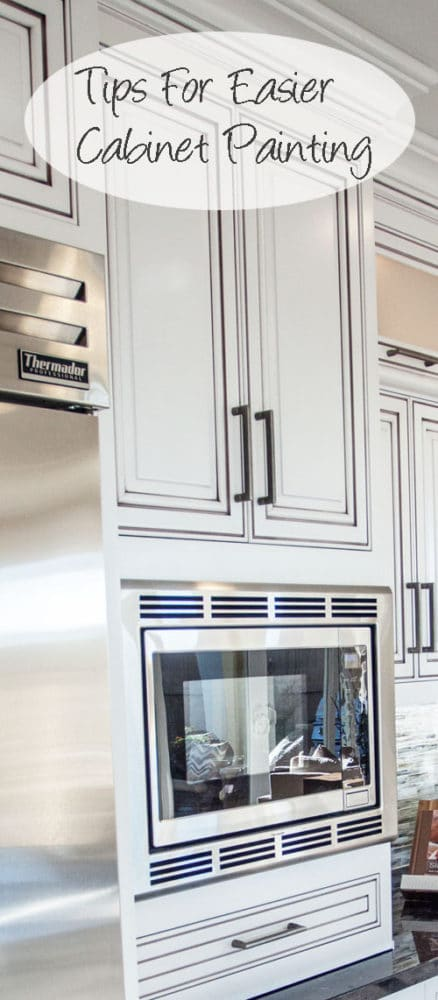 Ways to make painting kitchen cabinets easier painted for Best way to build kitchen cabinets
