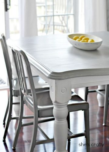 gray kitchen table DIY Painted Furniture