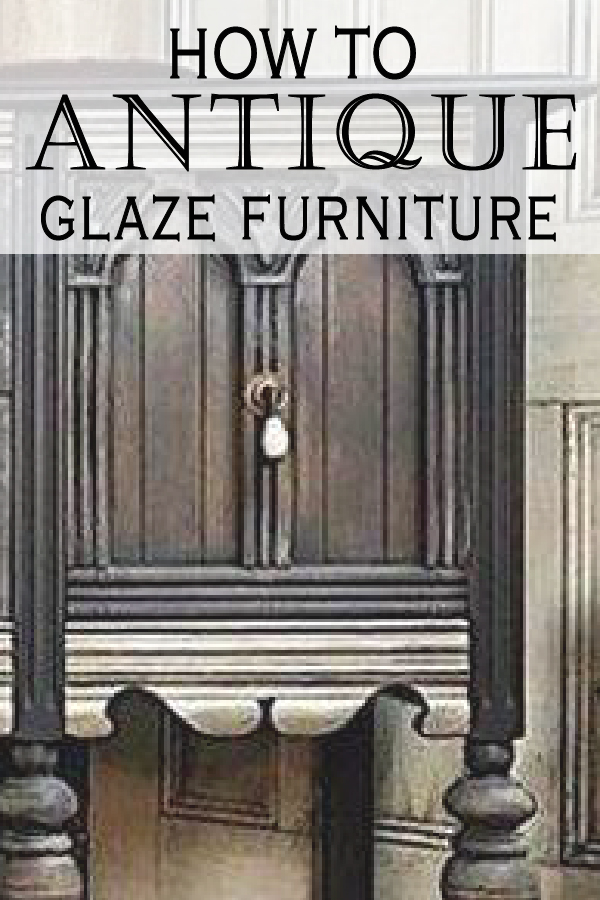 Learn from other DIYers how to get a beautiful antique finish on your  projects. - Painted Furniture Ideas How To Do An Antique Glaze On Painted