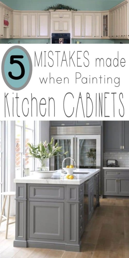 Mistakes people make when painting kitchen cabinets for Best latex paint for kitchen cabinets