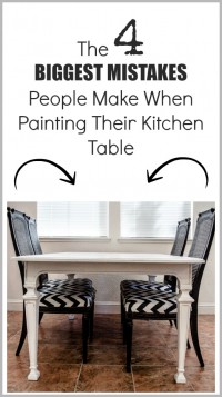 mistakes people make painting their kitchen table