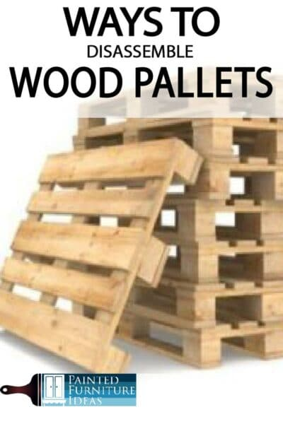 Learn the many different ways you can disassemble wood pallets for diy projects and crafts!